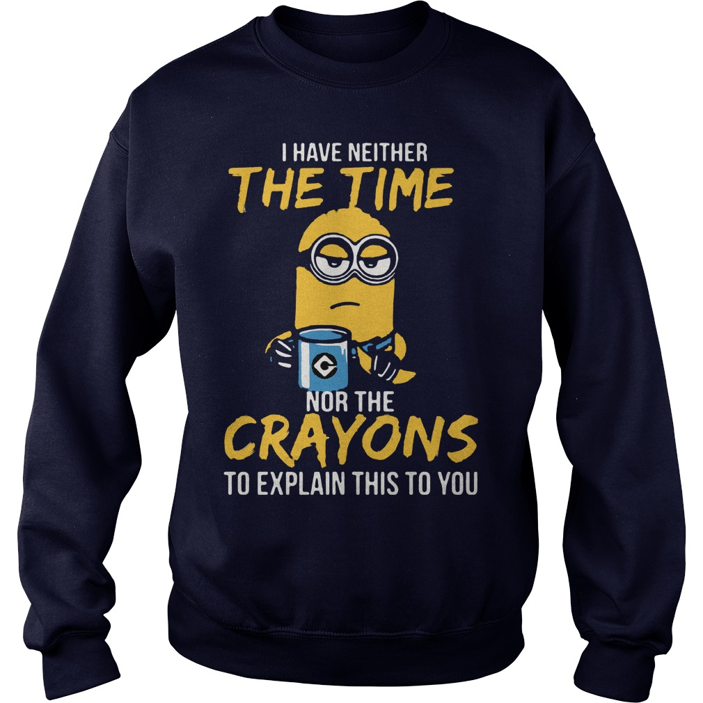 Minion Neither Time Crayons Explain Sweater