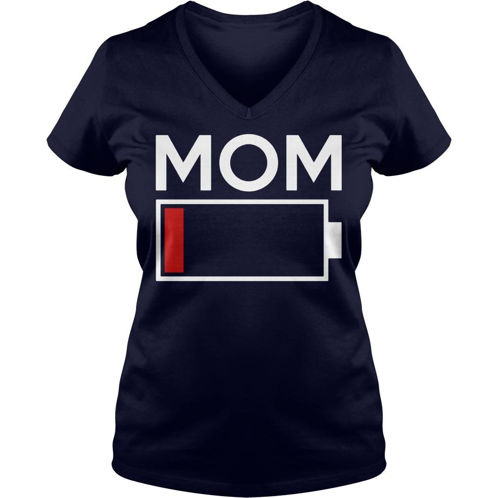 Mom Low Battery Energy V-neck t-shirt