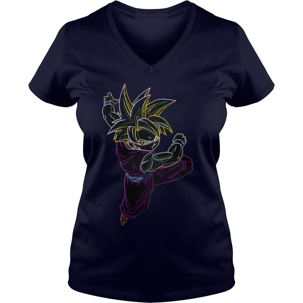 Neon Gohan Ssj V-neck t-shirt