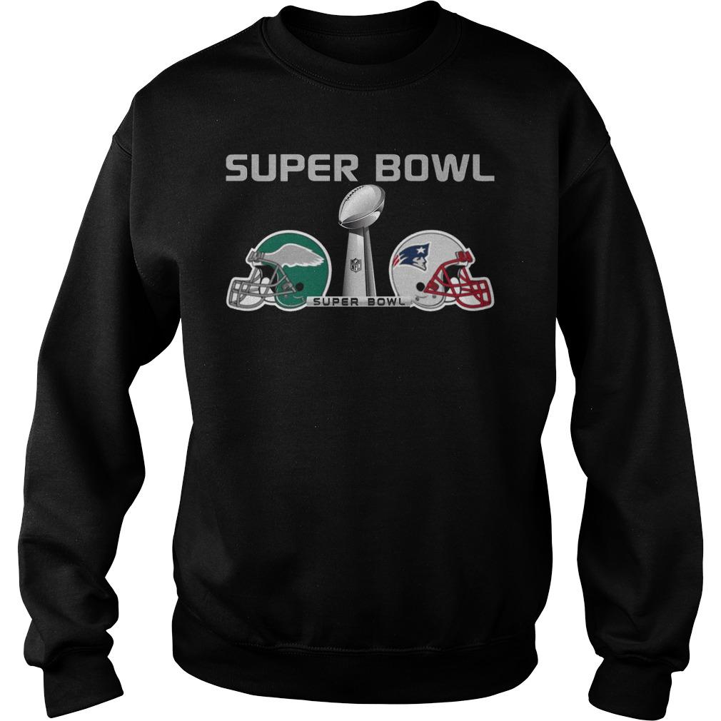 New England Patriots Fighting Philadelphia Eagles Super Bowl Lii 2018 Sweater