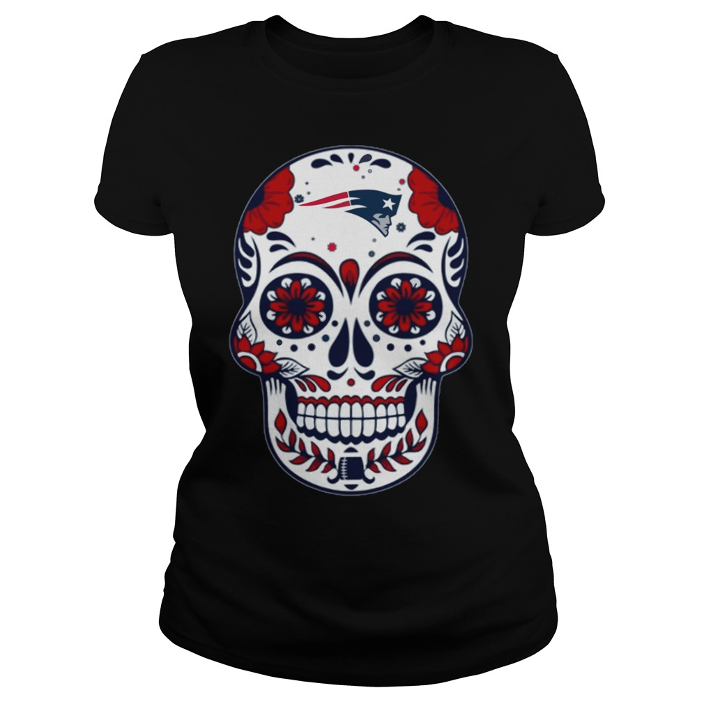New England Patriots Skull Champions 2018 Ladies Tee