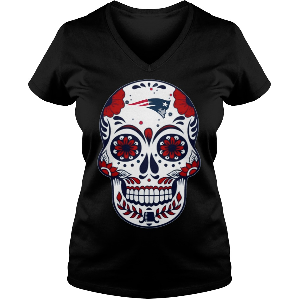 New England Patriots Skull Champions 2018 V-neck t-shirt