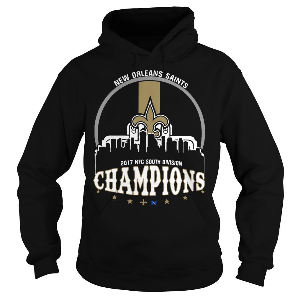 New Orleans Saints 2017 Nfc South Division Champion Hoodie