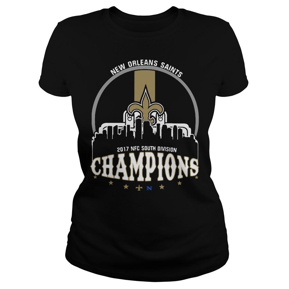 New Orleans Saints 2017 Nfc South Division Champion Ladies Tee