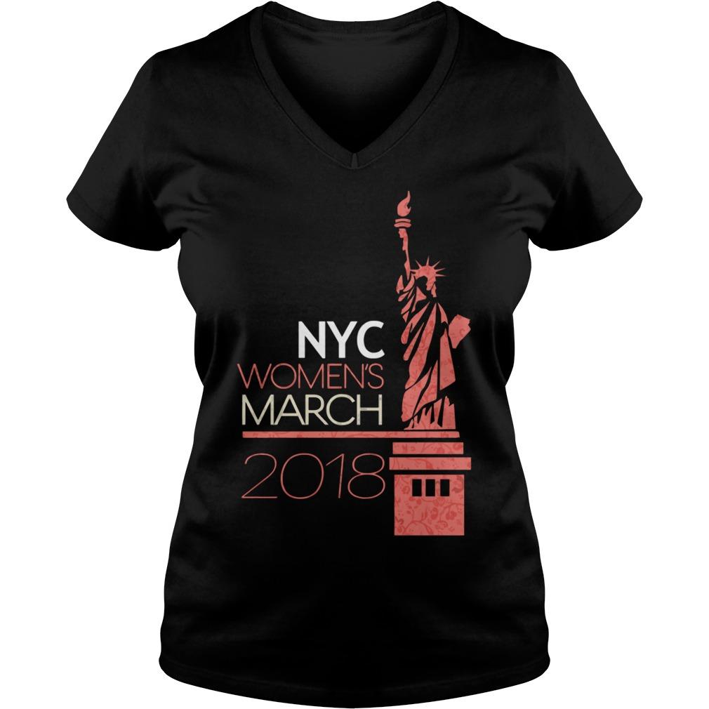 New York City Womens March 2018 V-neck t-shirt