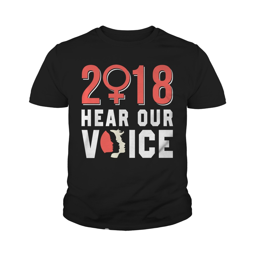 Official 2018 Hear Our Voice Youth Tee