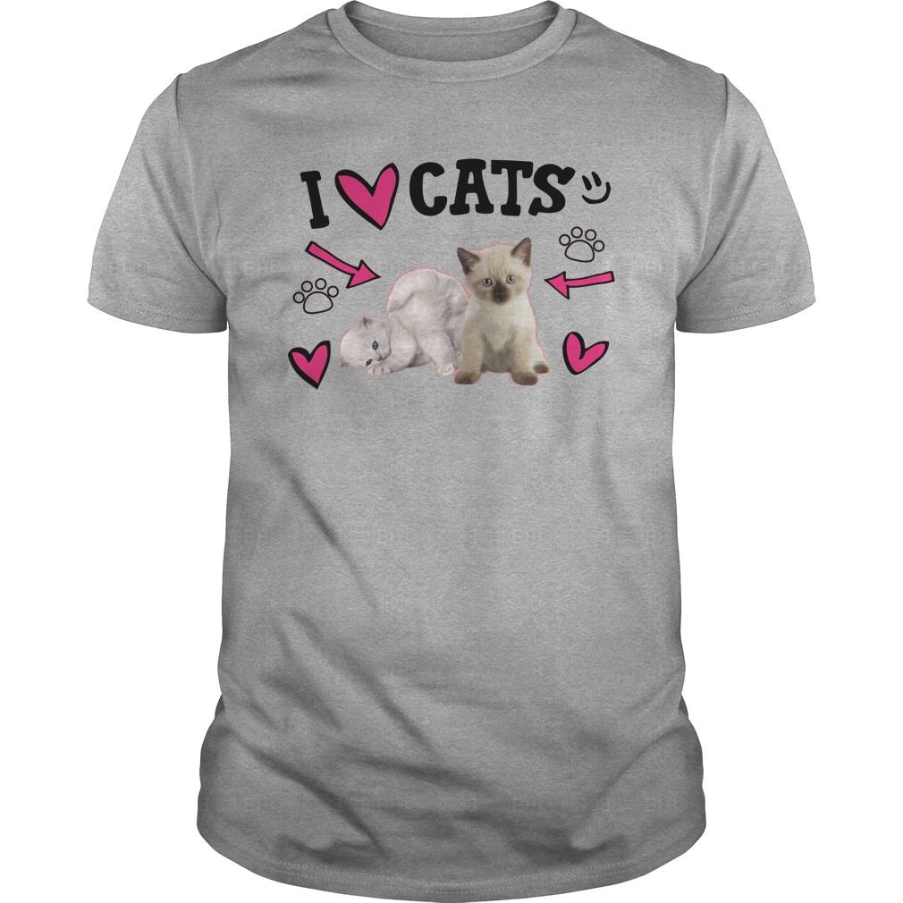 Official Love Cats Cute Guys Shirt