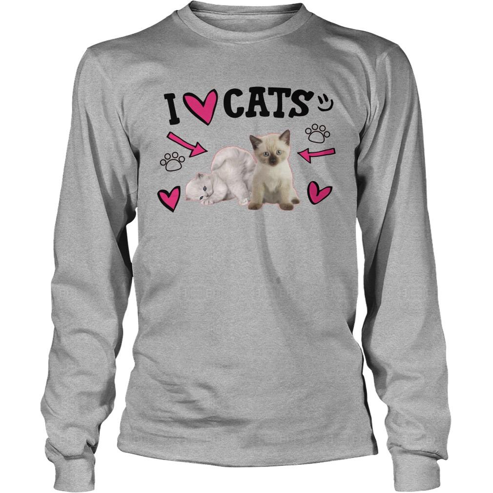 Official Love Cats Cute Longsleeve Tee