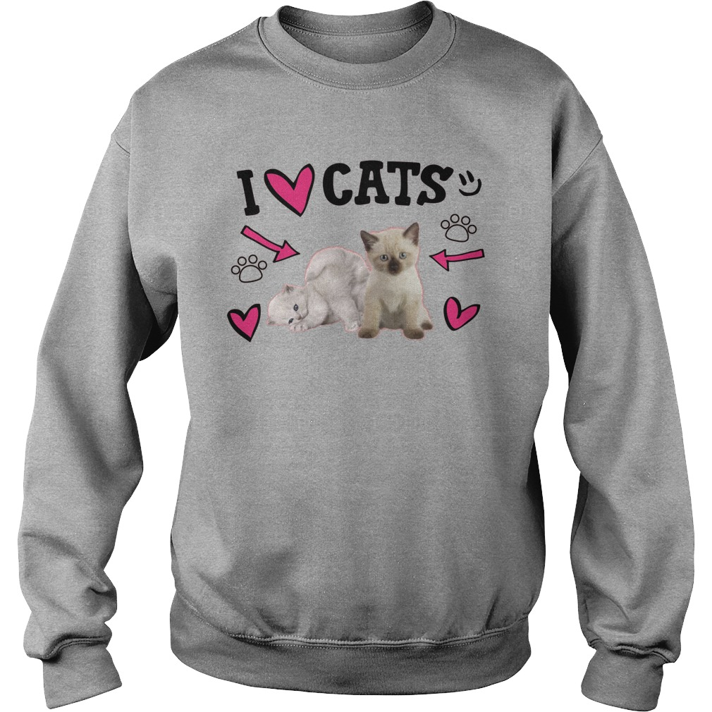 Official Love Cats Cute Sweater