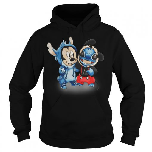 Official Mickey And Stitch Hoodie