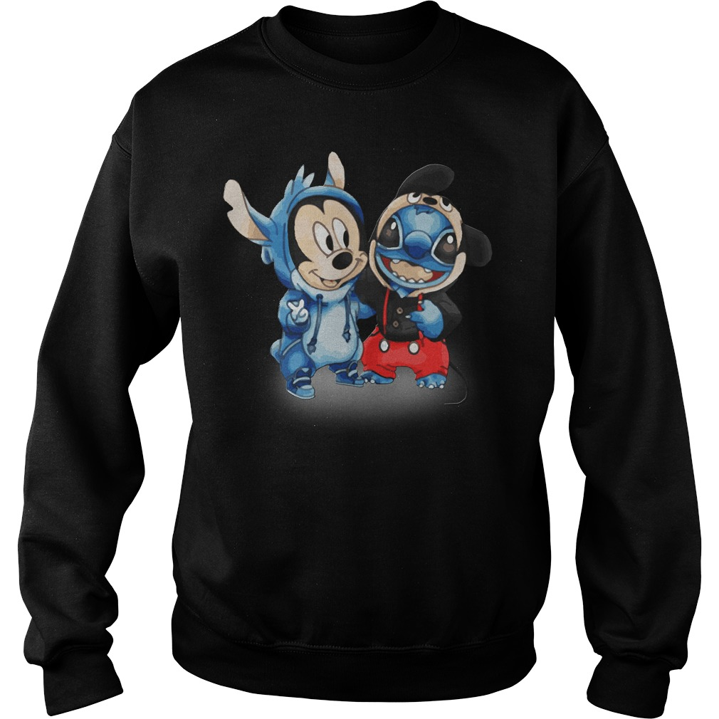 Official Mickey And Stitch Sweater