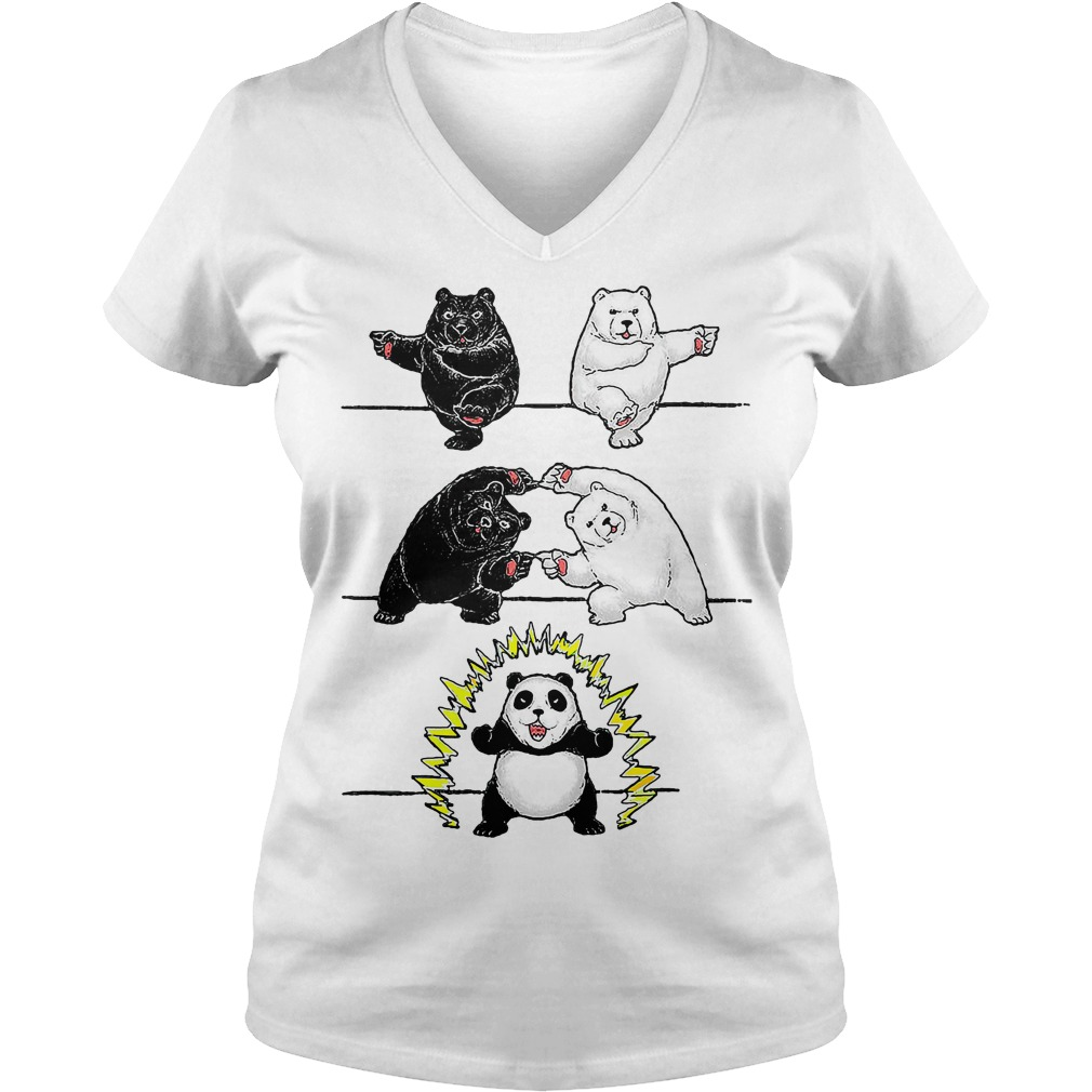 Official Panda Fusion V-neck t-shirt