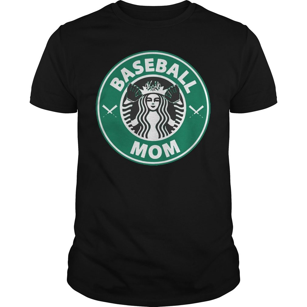 Official Starbucks Baseball Mom Guys Shirt