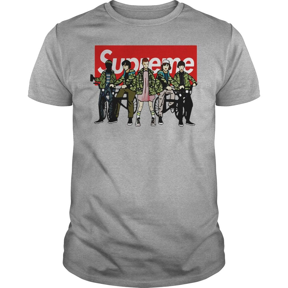 Official Supreme Stranger Things Shirt, Hoodie, Sweater And V Neck T Shirt