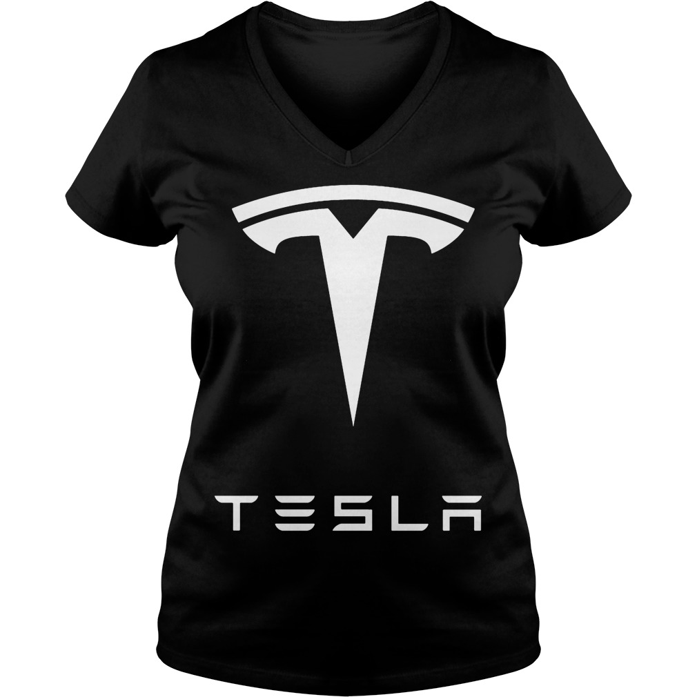 Official Tesla V Neck T Shirt