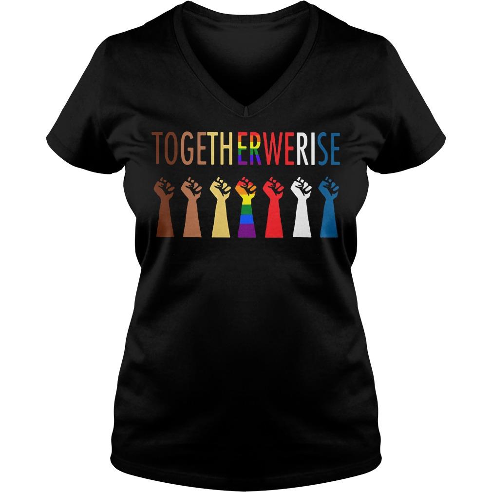 Official Together Rise V-neck t-shirt