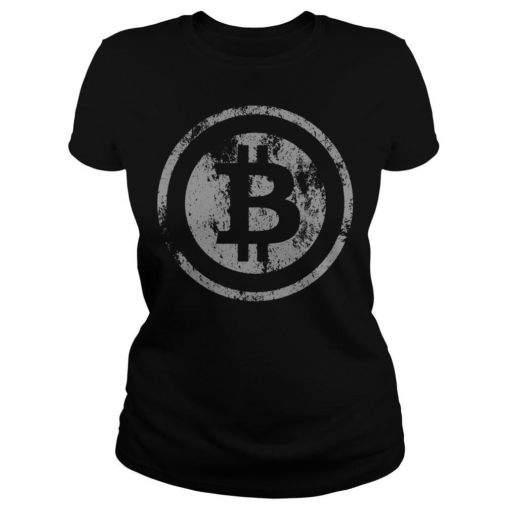 Official Vintage Bitcoin Logo Ladies Tee