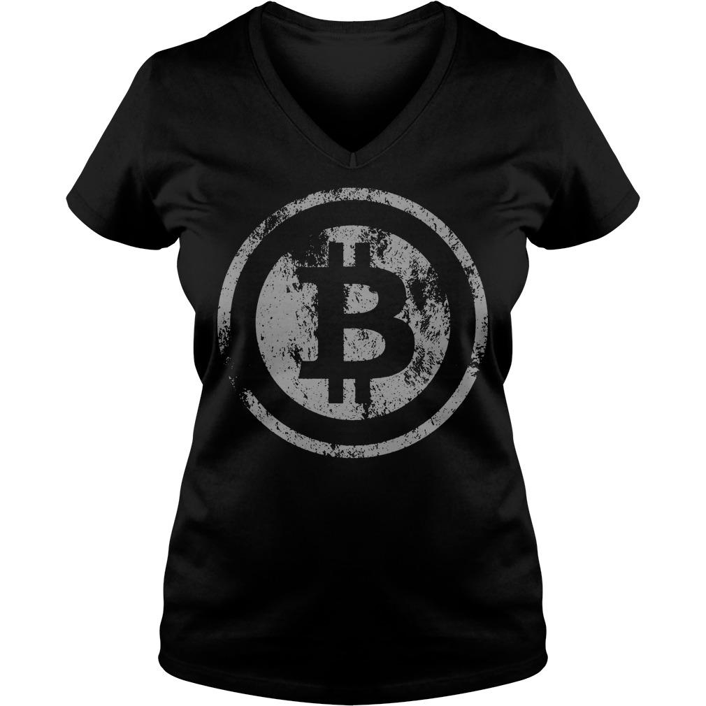 Official Vintage Bitcoin Logo V-neck t-shirt