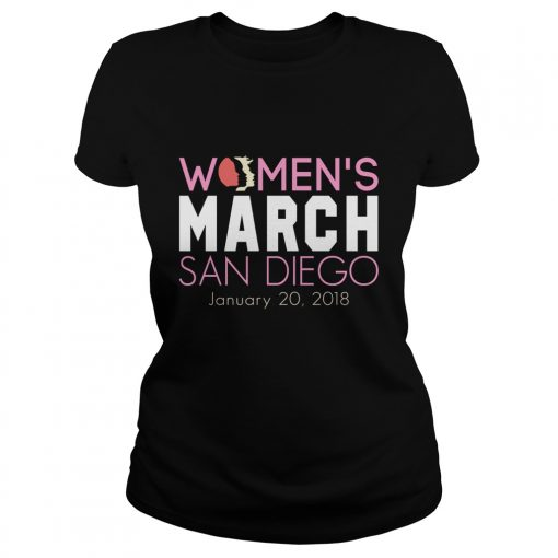Official Womens March San Diego January 20 1018 Ladies Tee