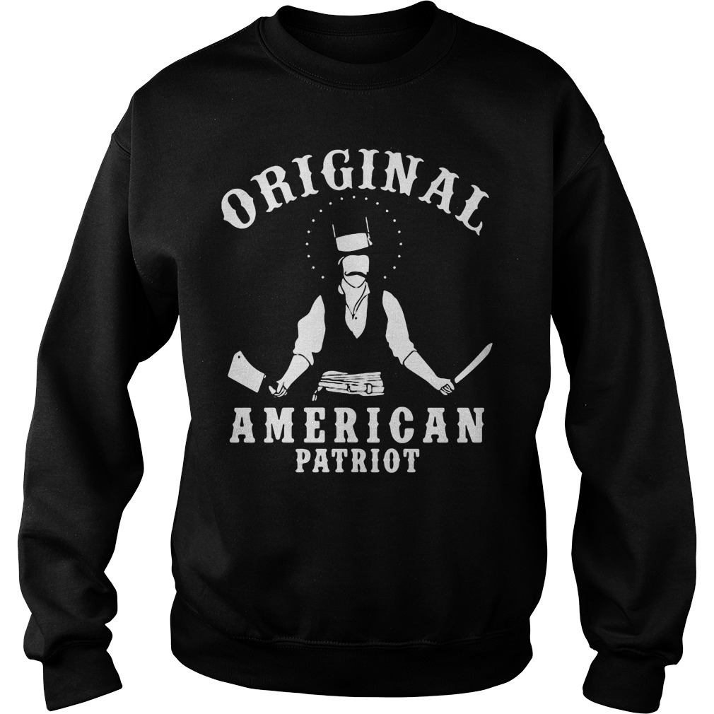 Original American Patriot Bill Butcher Cutting Sweater