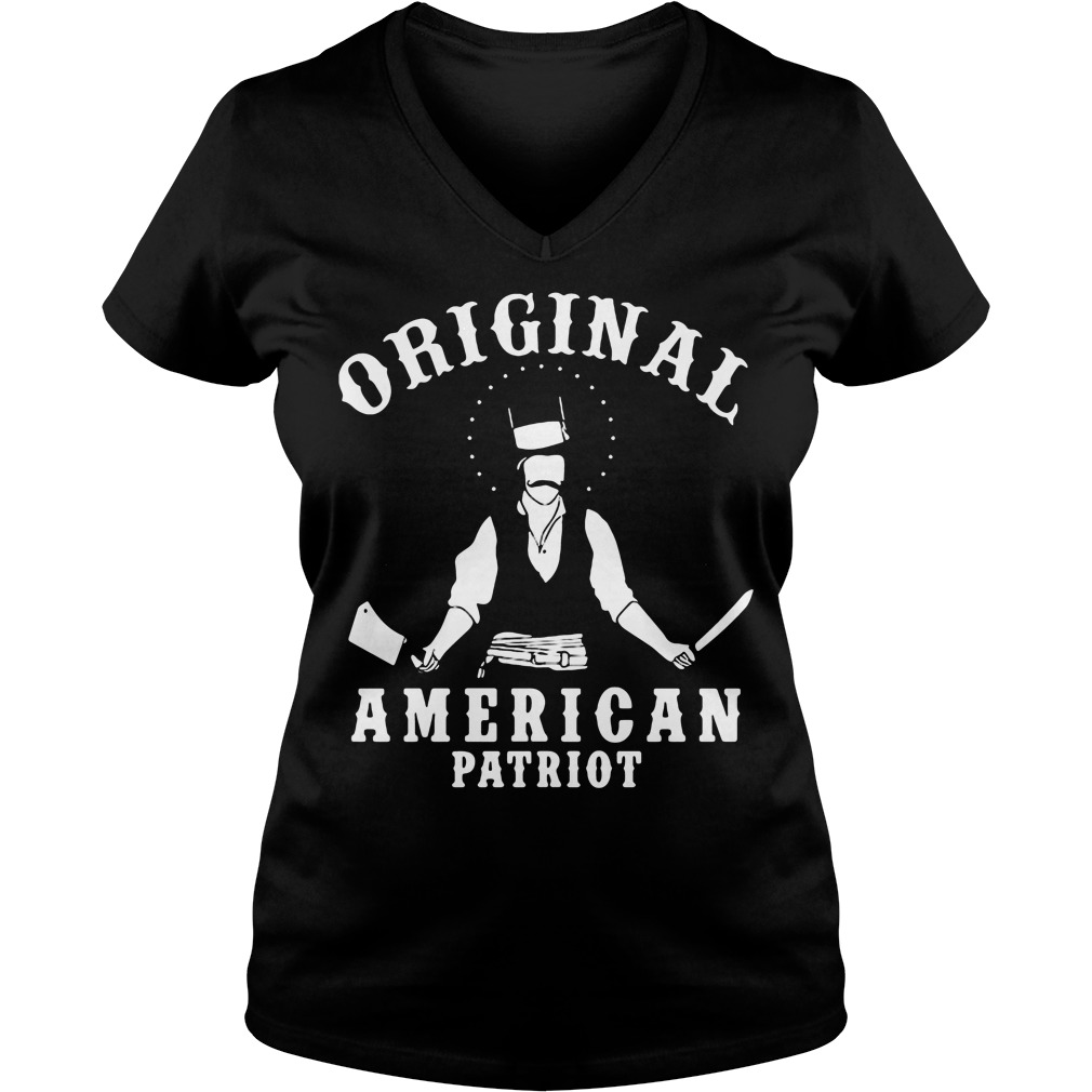 Original American Patriot Bill Butcher Cutting V-neck t-shirt