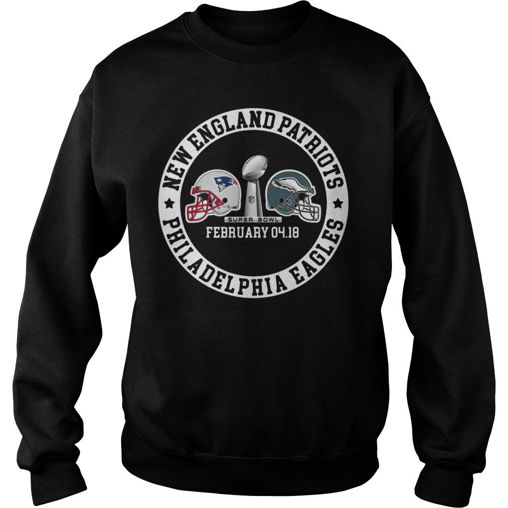 Patriots Vs Eagles Super Bowl Ii Champions 2018 Sweater
