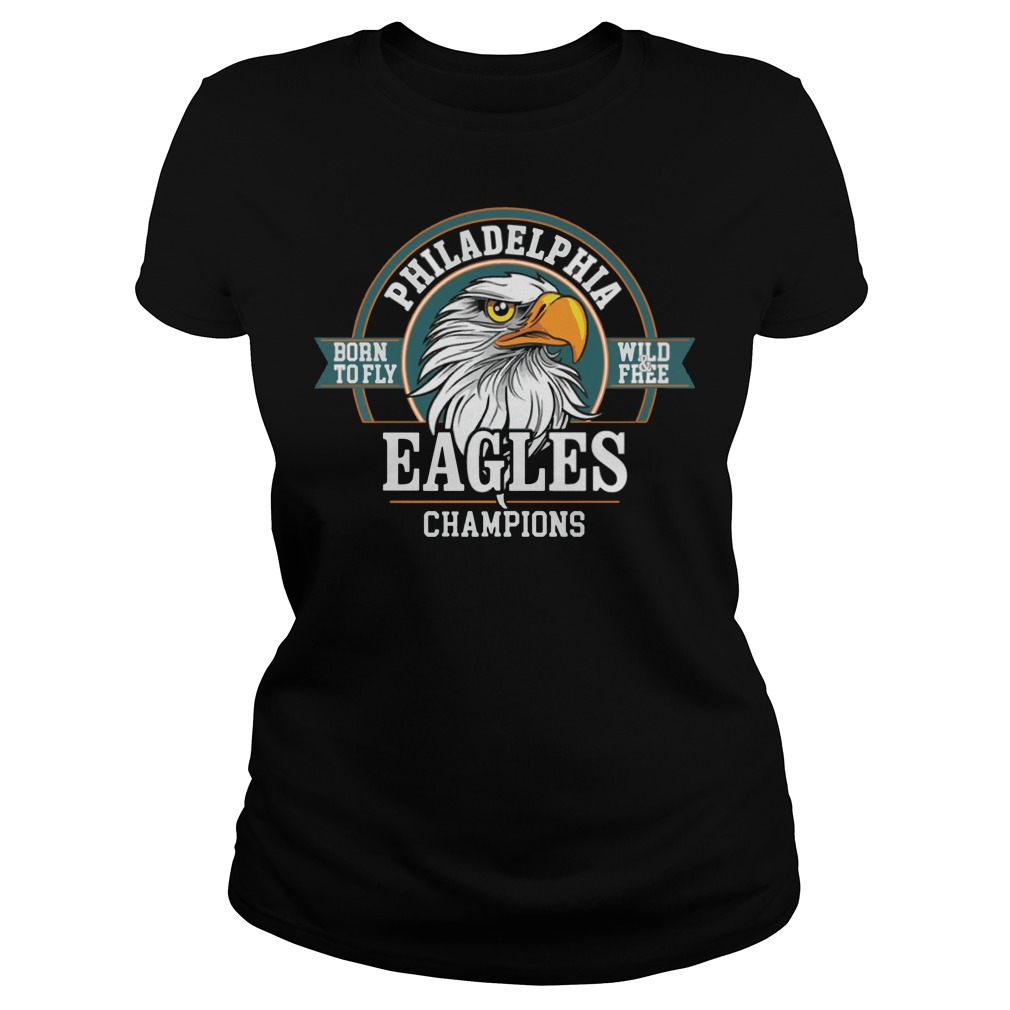 Philadelphia Eagles Champions Super Bowl Lii 2018 Ladies Tee
