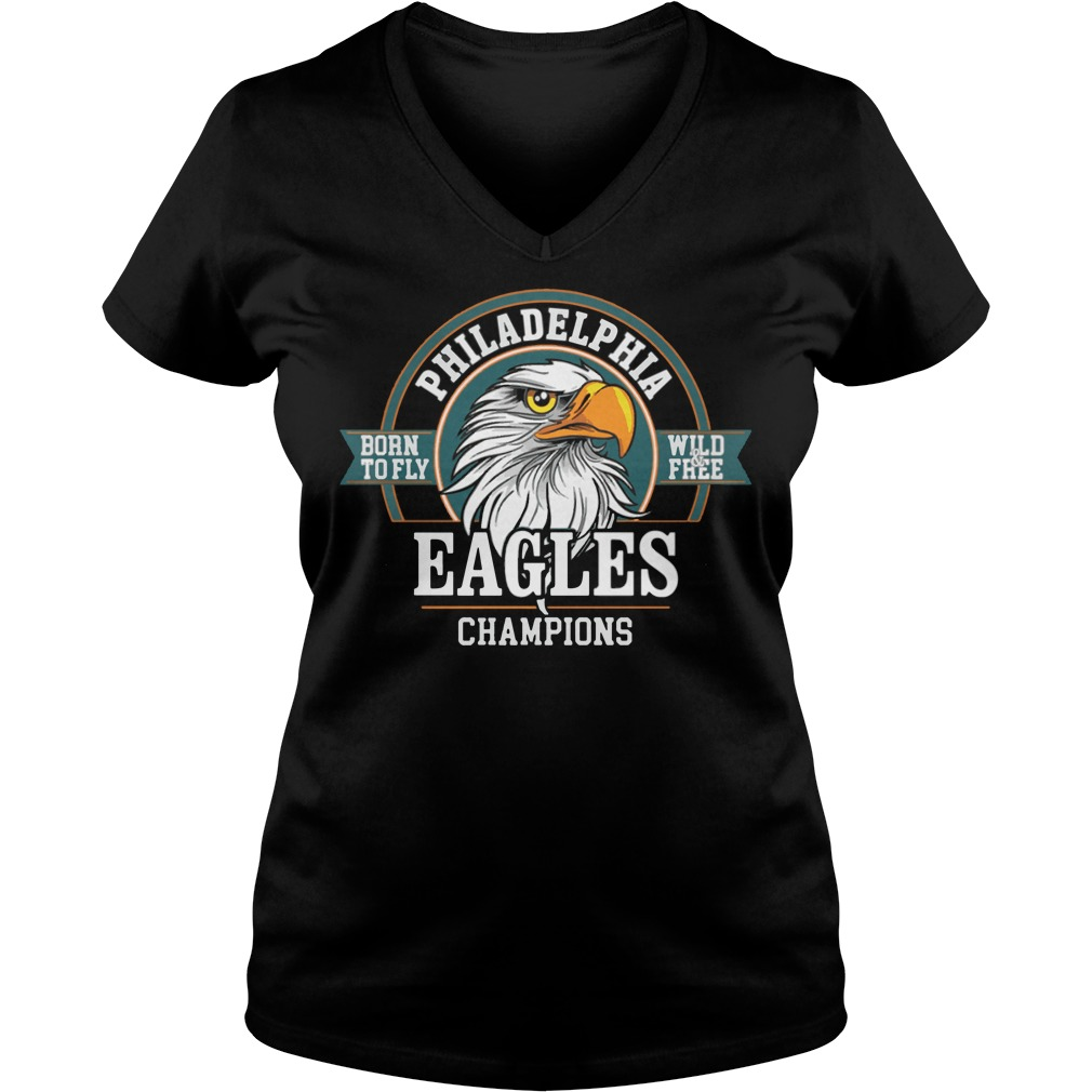 Philadelphia Eagles Champions Super Bowl Lii 2018 V-neck t-shirt