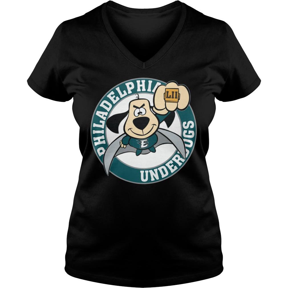 Philadelphia Eagles Underdog Super Bowl Lii V-neck t-shirt