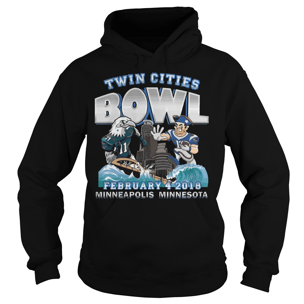 Philadelphia Eagles Vs New England Patriots Twin Cities Super Bowl Hoodie