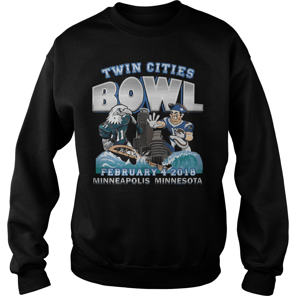 Philadelphia Eagles Vs New England Patriots Twin Cities Super Bowl Sweater