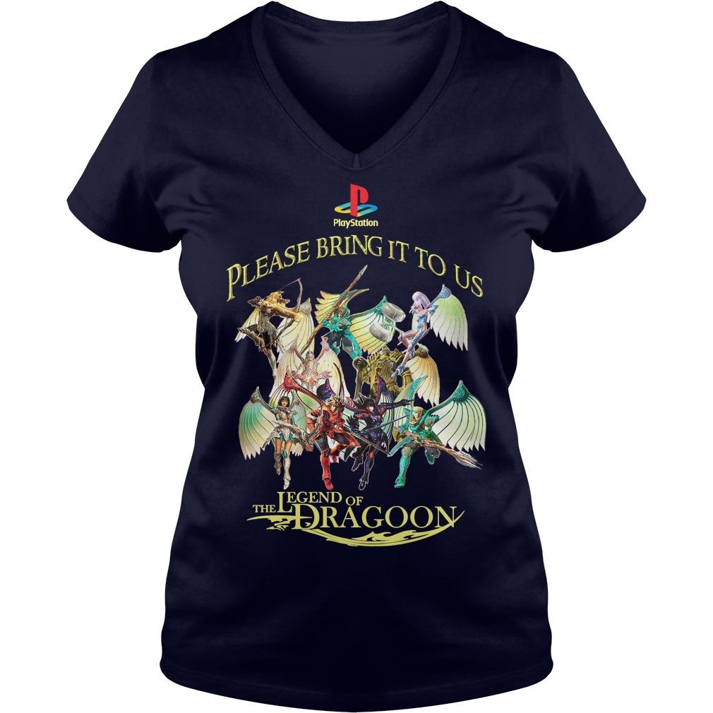 Please Bring Us Legend Dragoon V-neck t-shirt