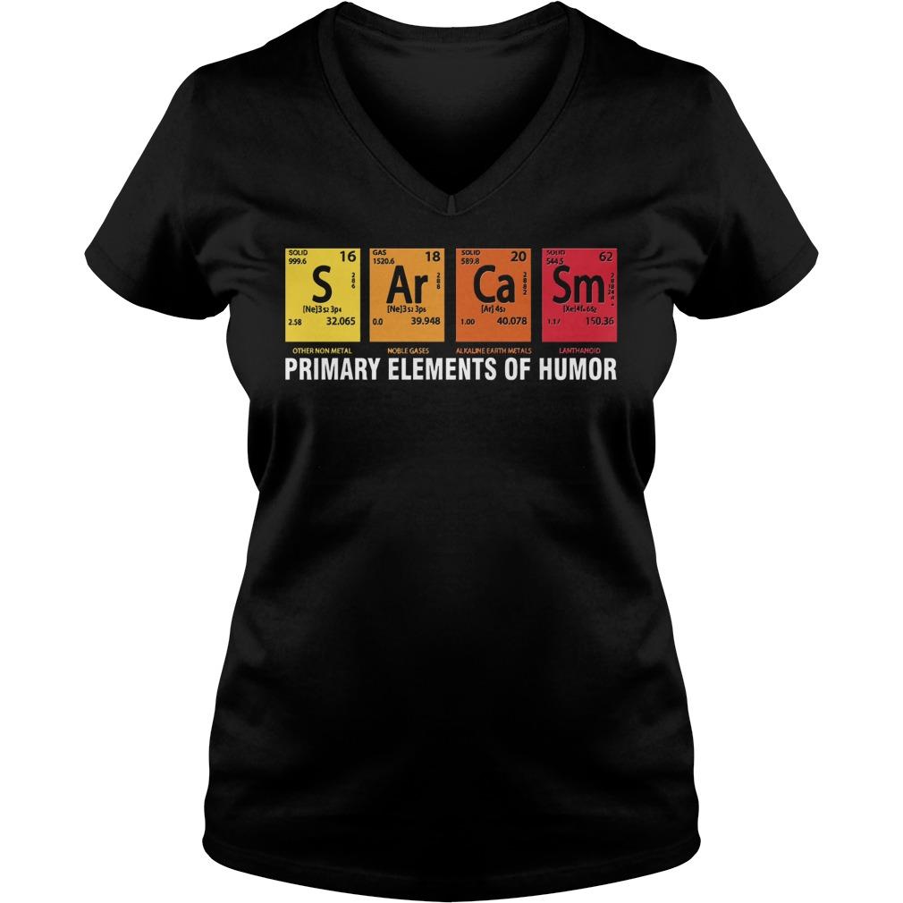 Primary Elements Humor V Neck T Shirt