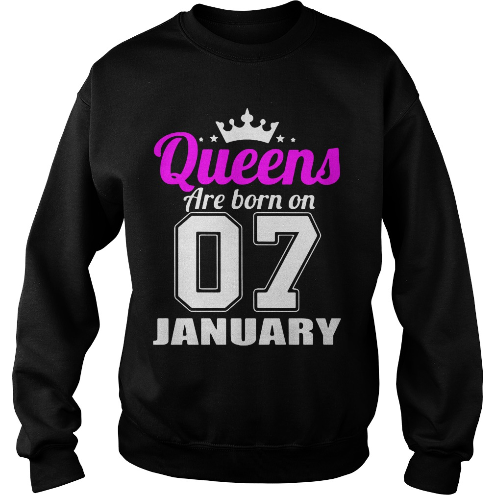 Queens Are Born On 07 January Sweater