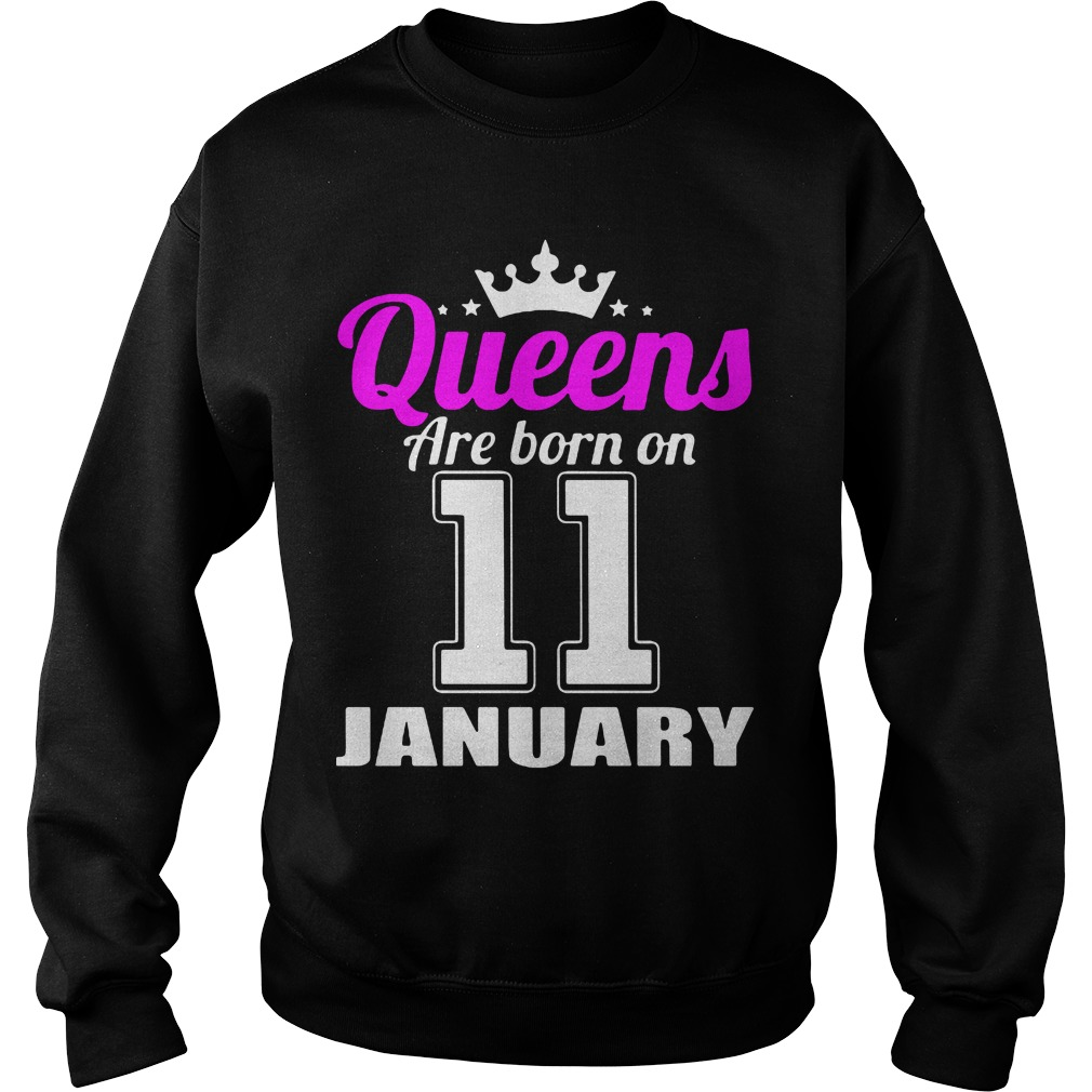 Queens Are Born On 11 January Sweater