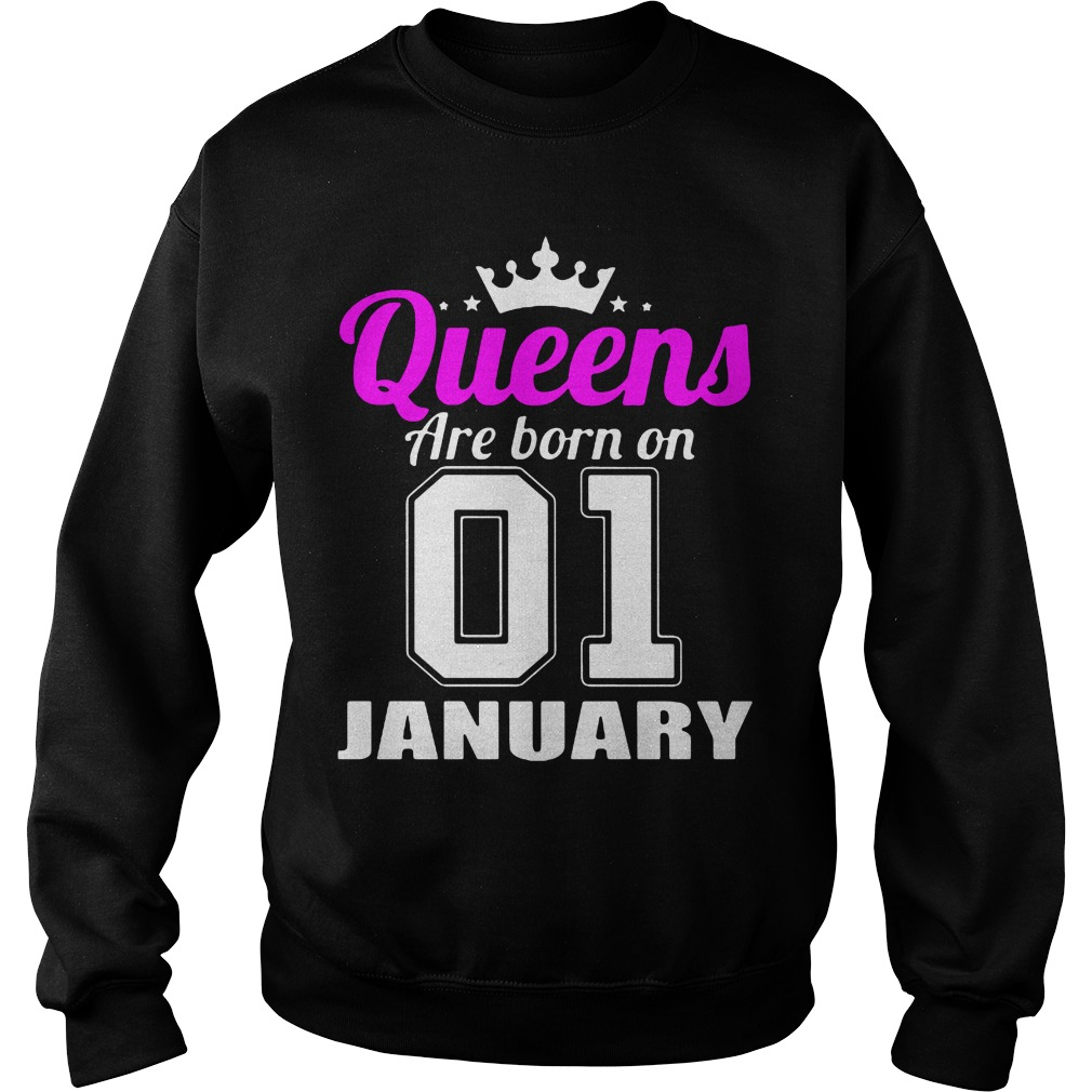 Queens Born 01 January Sweater