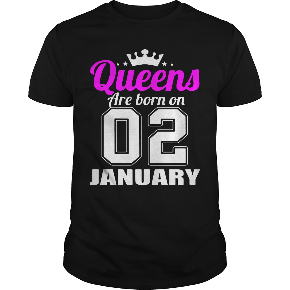 Queens Born 02 January Guys Shirt