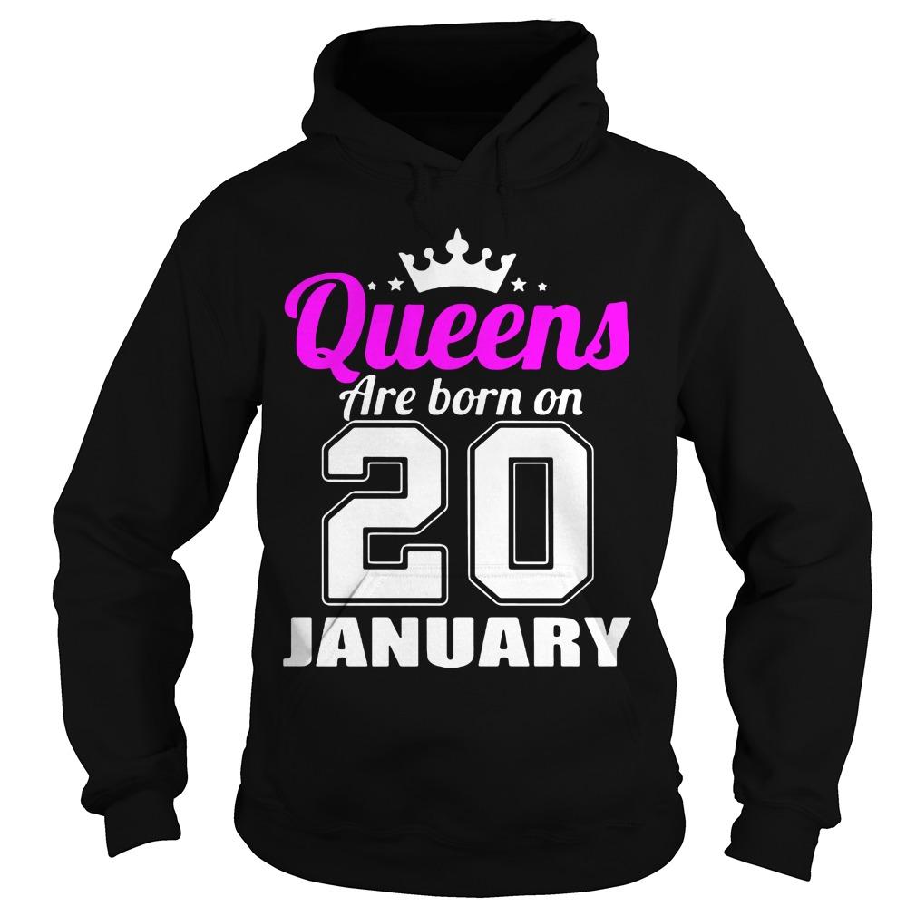 Queens Born 20 January Hoodie