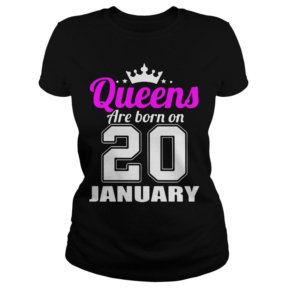 Queens Born 20 January Ladies Tee