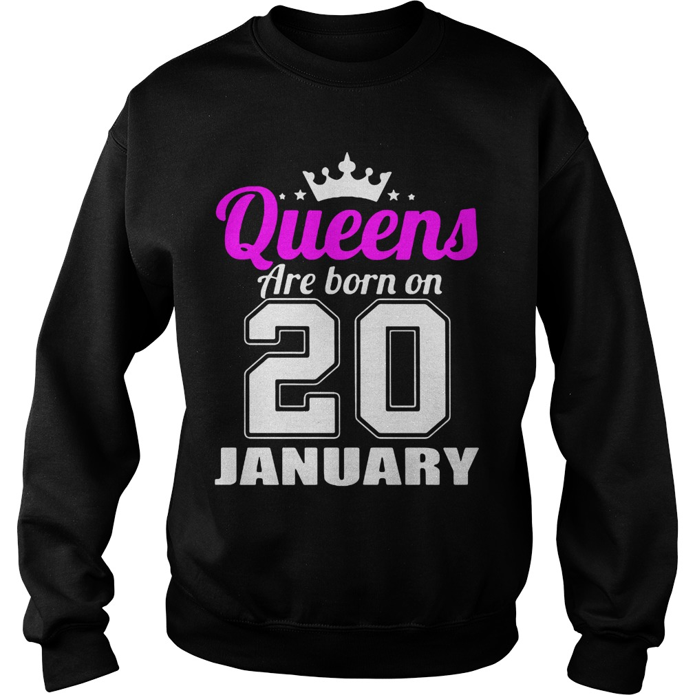 Queens Born 20 January Sweater