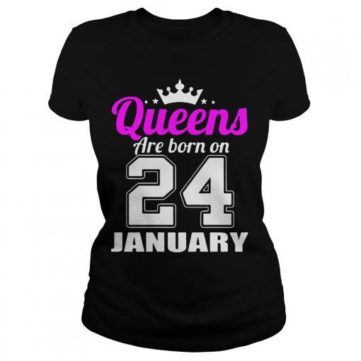 Queens Born 24 January Ladies Tee