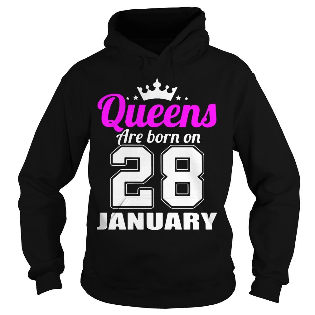 Queens Born 28 January Hoodie