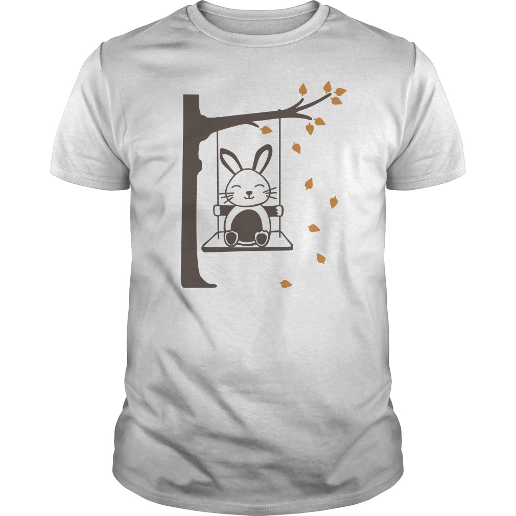 Rabbit Swinging Cat Funny Guys Shirt