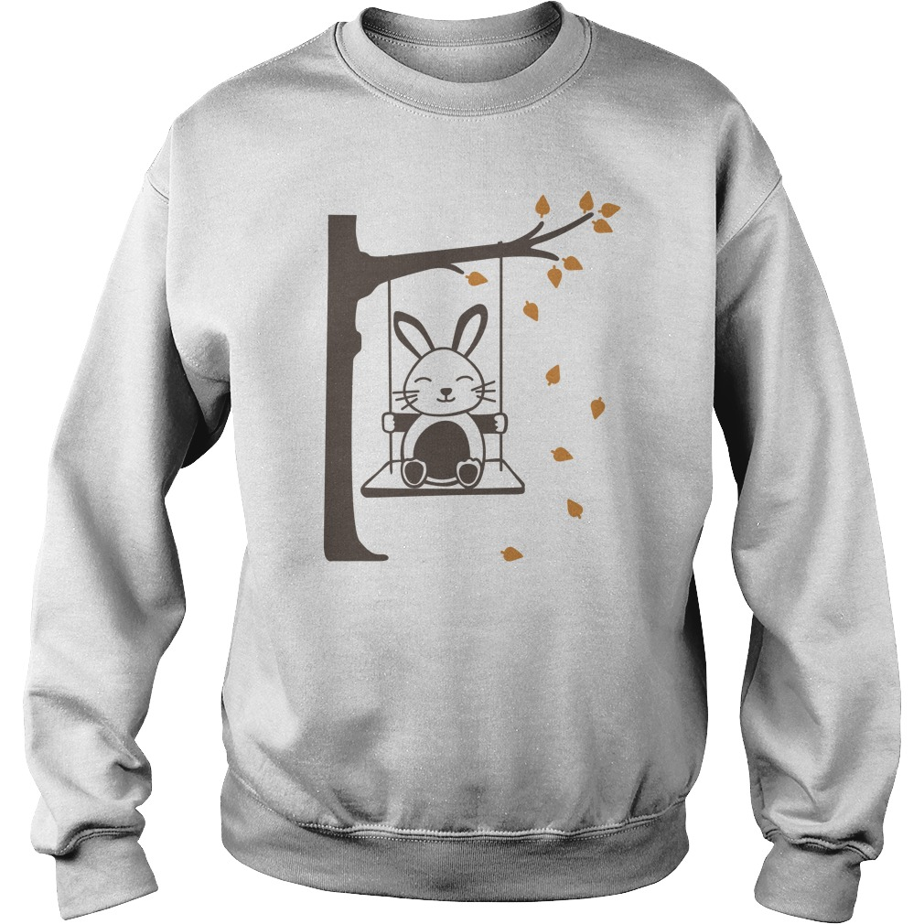 Rabbit Swinging Cat Funny Sweater