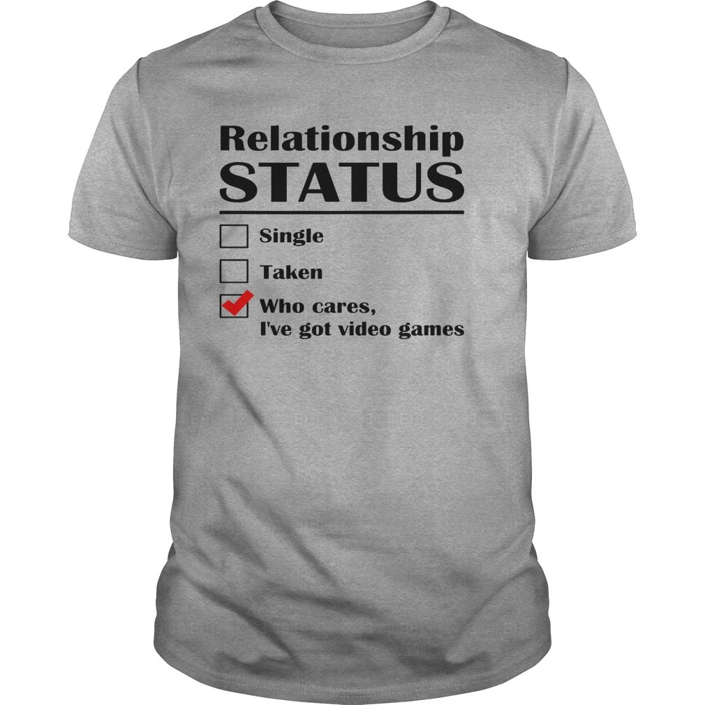 Relationship Status Single Taken Cares Ive Got Anime Shirt