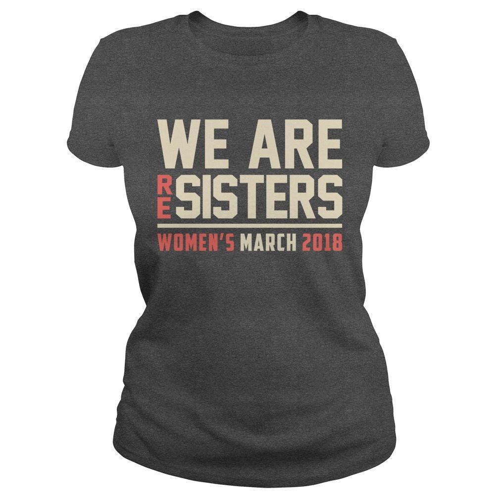 Resisters Womens March 2018 Ladies Tee