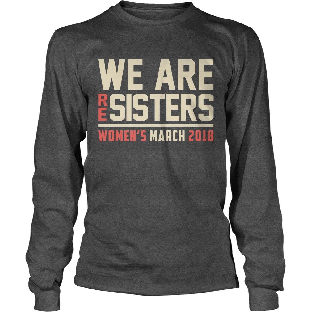 Resisters Womens March 2018 Longsleeve Tee