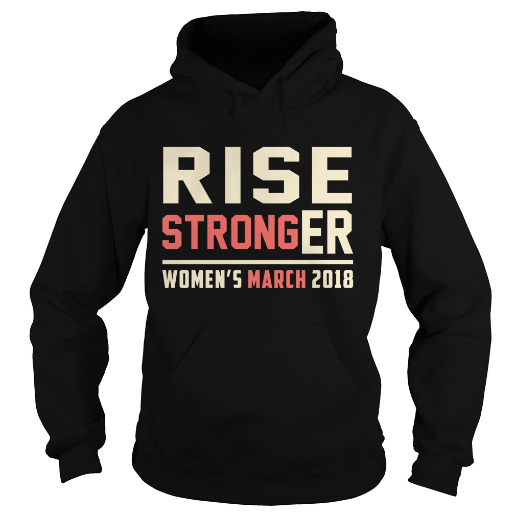 Rise Stronger Womens March 2018 Hoodie