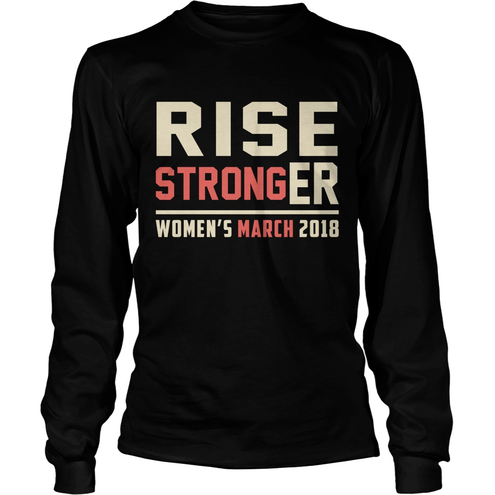 Rise Stronger Womens March 2018 Longsleeve Tee