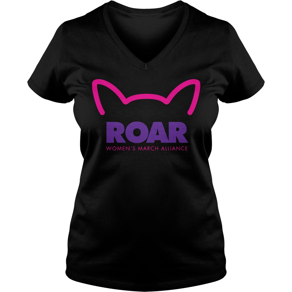 Roar Womens March Alliance 2018 V-neck t-shirt